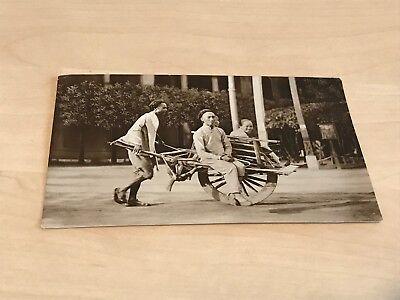 1930s Real Photo Postcard Chinese Wheelbarrow