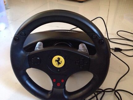 Thrustmaster Ferrari steering wheel for PS3 and pc Bankstown Bankstown Area Preview
