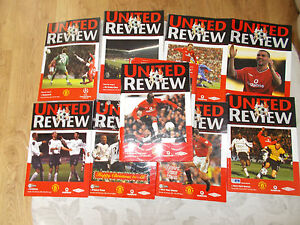 Manchester-United-Home-Football-Programmes-2000-2003