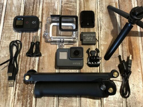 GoPro Hero5 Black CHDHX-501 Camera - Smart Remote + 3-Way Arm/GripTripod