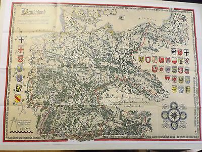 Landkarte historische Bildkarte Deutschland und angrenzende Gebiete 1925 - 1934