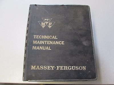 Massey Ferguson Technical Service Manual Tractorcombine Service Manual