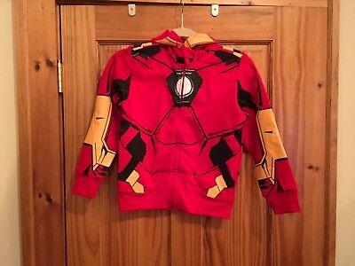 Marvel Iron Man Boys Zip-Up Costume Hoodie Size 7 ()
