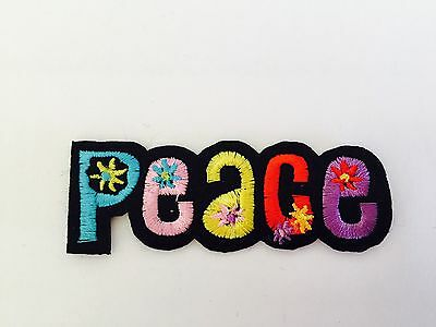 PEACE ✿ HIPPY LOVE 60'S COSTUME dress up ✿ DIY IRON ON Patch / Applique / Motif