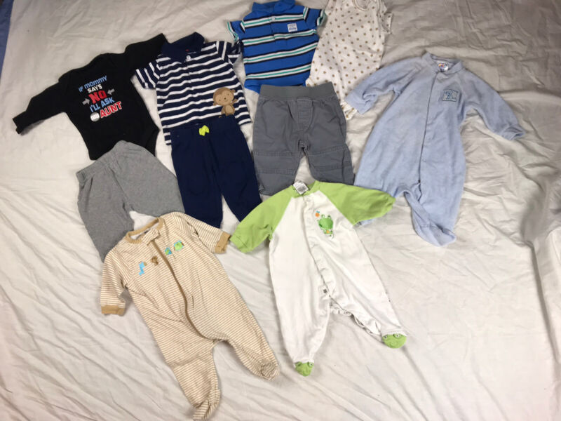 Baby Boy Size 0-3 Months Clothes Lot