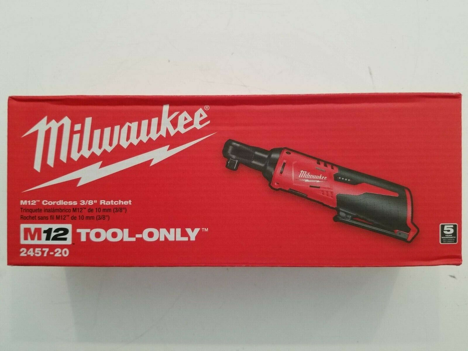 "Milwaukee 2457-20 M12 Cordless 3/8"" Sub-Compact 35 ft-Lbs 25"