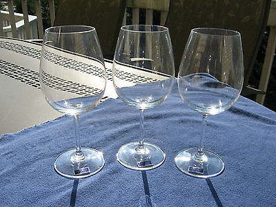 3 Large Waterford Crystal MARQUIS 20 oz Goblets