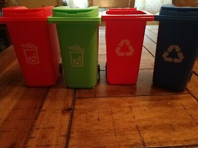 Desk Organizer Recycling Bins Set Of 4pencil Holders Free Shipping