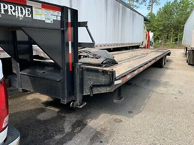 Used 2018 Texas Pride 8 X 40 355 Gooseneck Equipment Trailer 30k Gvwr