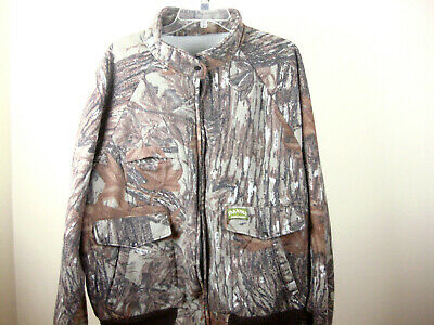 Vintage Spartan Realtree Camouflage Polar Fleece Jacket Mens 2XL USA -