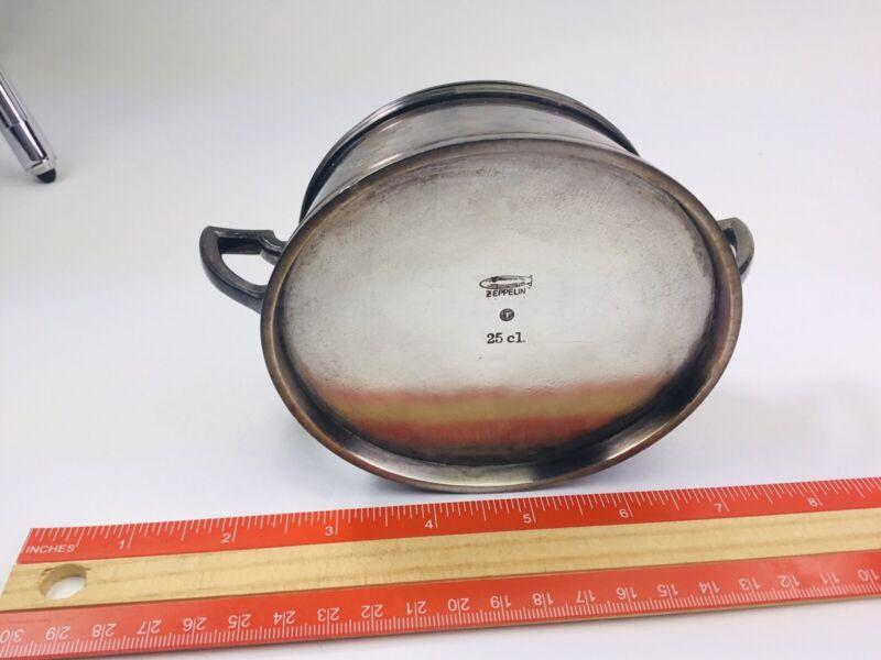 Zeppelin Silver Sugar Bowl - 1920-30's - Maker Marked, Zeppelin Marked