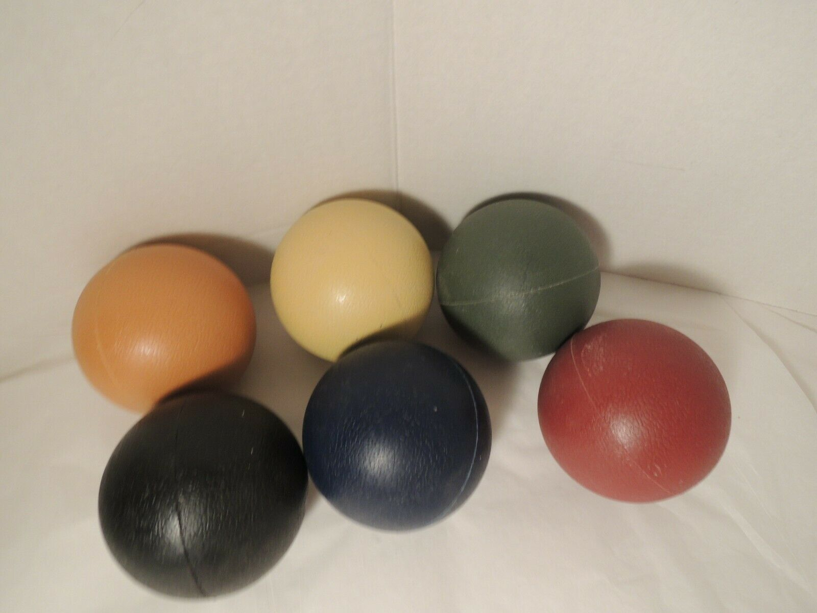 Replacement Set of 6 Croquet Balls Resin Heavy Plastic 3 Inc