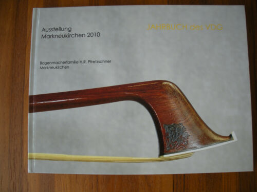 2010 Pfretzschner Violin Cello Bow Book German Silver French Vintage Antique