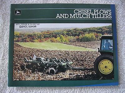 1985 John Deere Chisel Plows Mulch Tillers 24 Page Brochure Nice