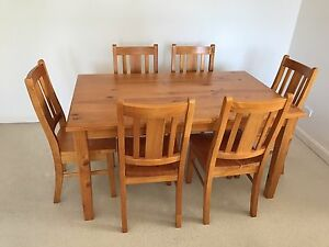 Stained Timber Dining Set Sutherland Sutherland Area Preview