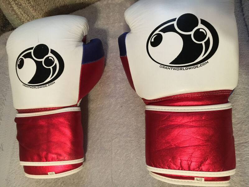 GRANT Red White And Blue 14 Oz Sparring Gloves Authentic