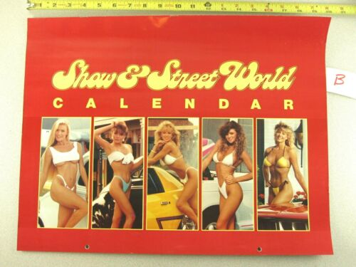 1989 Calendar ISCA SHOW & STREET WORLD Hot Rod Car Sexy Girl KC WINKLER Signed B