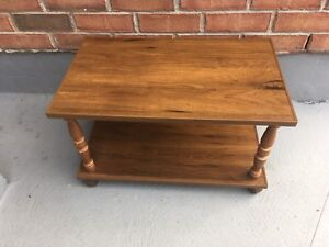 Small coffee table on coasters