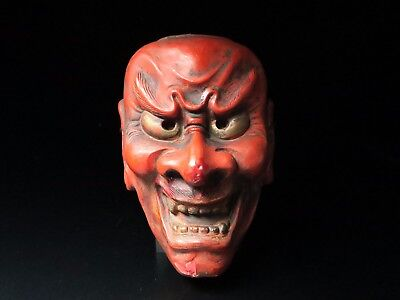 Japanese Handmade SHIKAMI mask noh kyougen kagura demon mask bugaku