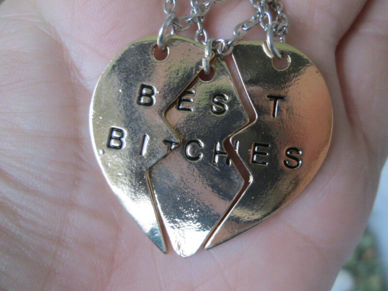 Best Bitches 3 Piece Necklace