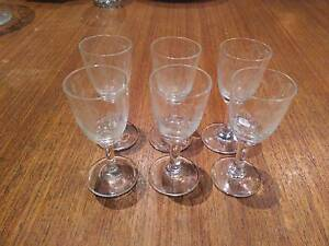 Set of 6 port/sherry glasses Braddon North Canberra Preview