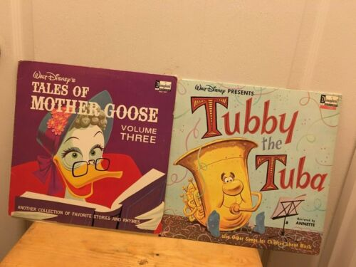 Lot of 2 DISNEYLAND Records from 1963:TUBBY THE TUBA & MOTHER GOOSE Vol.3