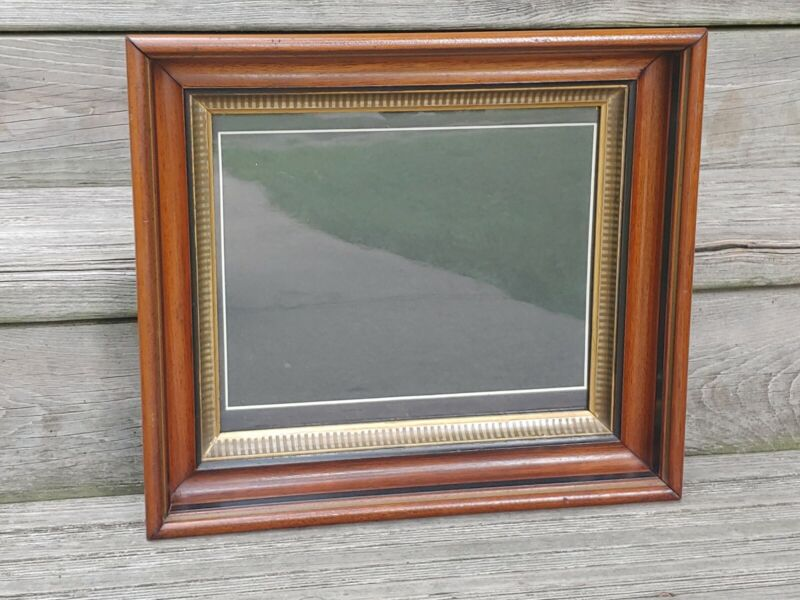 """Antique Victorian Deep Picture Frame Gold Gilt & Walnut  Fits 10"""" by 12"""""""