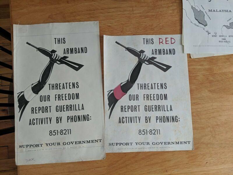US Army Propaganda Poster lot Vietnam War, Gobbler Woods Green Beret