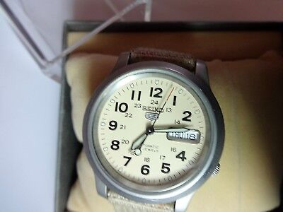 SEIKO 5 MILITARY  SNKN27K1 Watch AUTOMATIC with box, manual nice condition