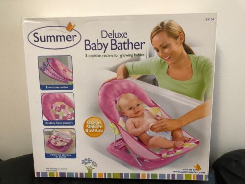 Summer Infant Deluxe Baby Bather--Color Pink (New)