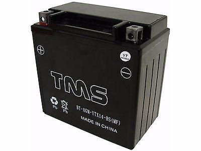 AGM YTX14-BS Battery for Honda FourTrax TRX400 450 Harley V-Rod ZX-14 VTX1300C R