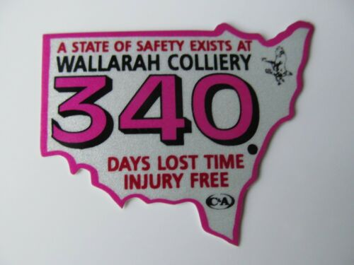 Coal Mining Stickers, Wallarah Colliery 340