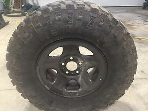 Tires and rims for sale off tj jeep