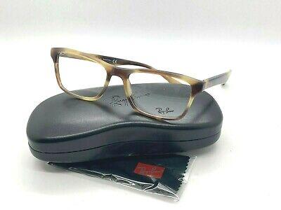 Ray-ban Optisch ORX5279 5775 Horn Brown/Beige Brille Rahmen 55-18-145 Neu