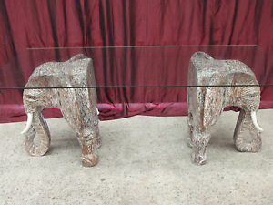Balinese-Hand-Carved-Unique-Elephant-Dining-Table-Glass-Top-White-Wash-Saur-Wood