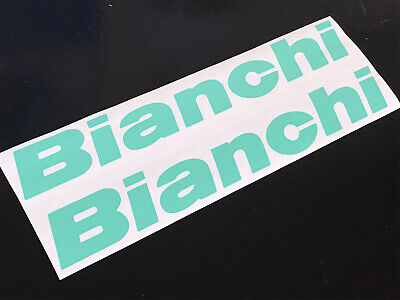 2 Bianchi Fork Decals Colours Sizes Cycling Stickers Graphics Frame Bike Vintage