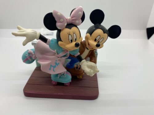 """Disney Mickey Minnie Hamilton Sweethearts 50's Collection """"Our Love Is On A Roll"""