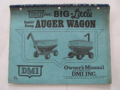 Dmi Center Dump Auger Wagon Manual