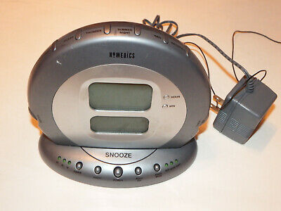 Homedics Atomic Clock Dual Alarm AM/FM Radio Soothing Sounds - Homedics SS-5000