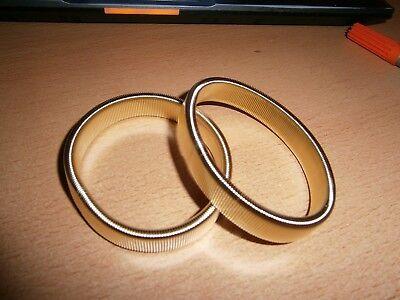 2 Armbänder / Blusenraffer/Ärmelraffer - goldfarben - dehnbar - NEU/UNGETRAGEN