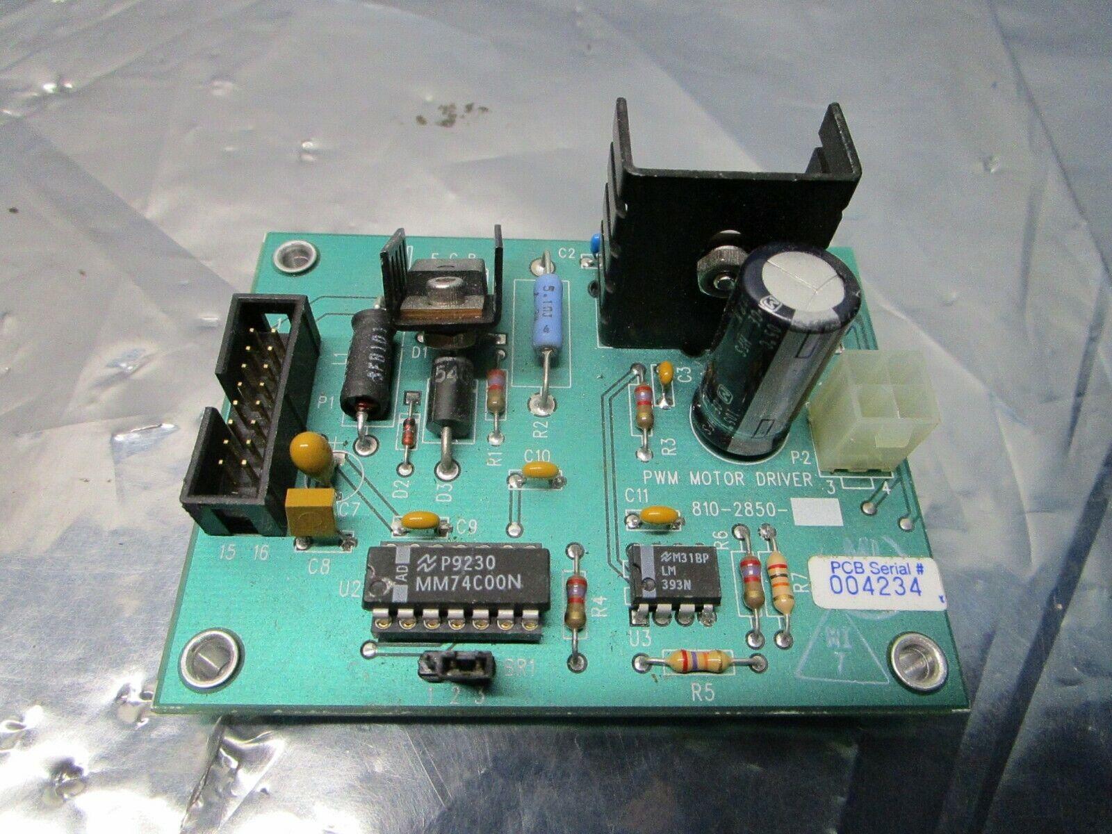 Novellus 810-2850 PWM Motor Driver Board, PCB, 101219