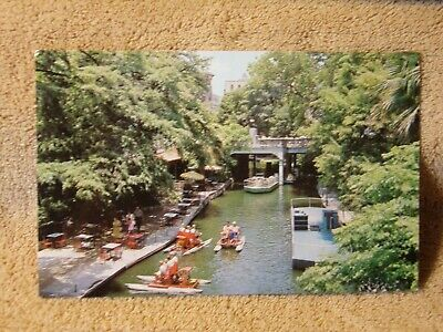 Vintage Postcard Restaurants And Boats, San Antonio River, San Antonio, Texas