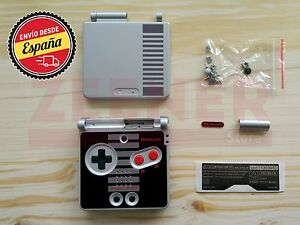 Carcasa-para-Game-Boy-Advance-SP-edicion-NES-GBA-SP-NES-Edition-Nueva