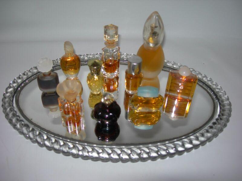 Vintage 10 bottles-Miniature PERFUME~Estee Lauder-Yves-Christian Dior-Giorgio &