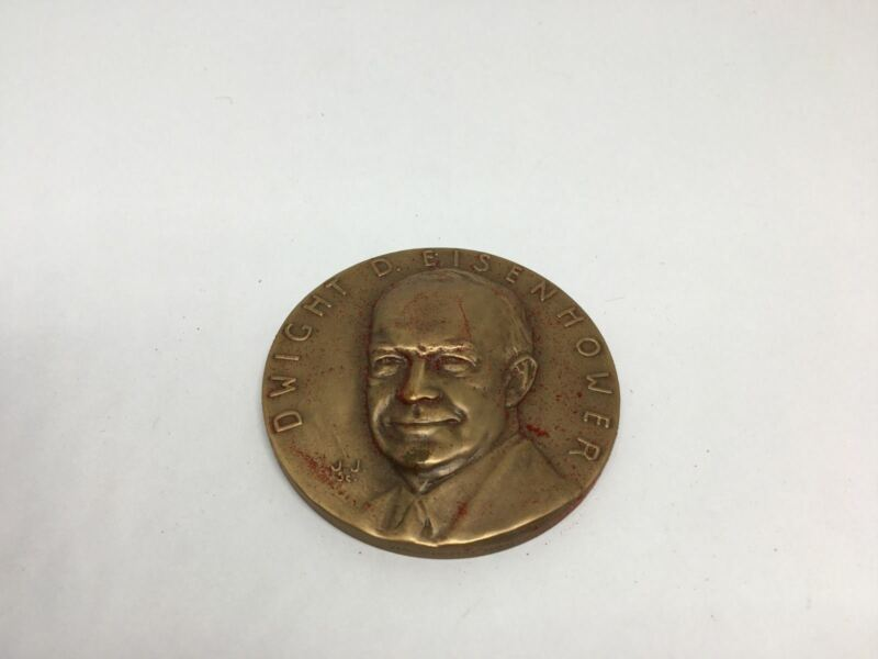 K2) President Dwight D. Eisenhower 1965 Bronze Virginia Luncheon Medallion