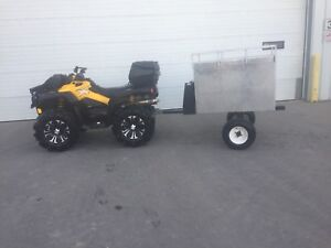Atv hunting trailer