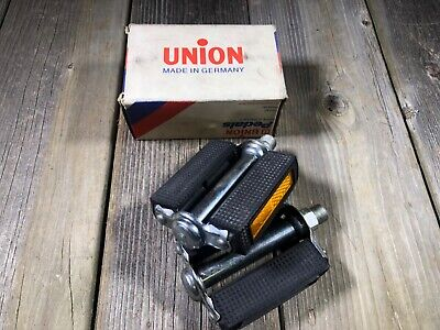 VINTAGE BIKE BICYCLE UNION PEDALS 9//16 PEDAL SET PAIR MADE IN GERMANY NOS