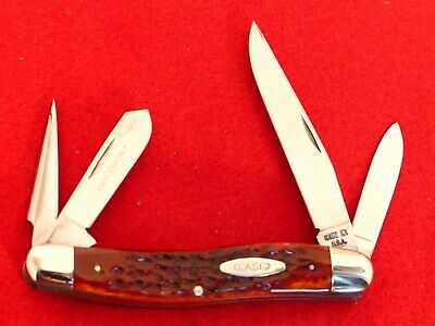 "Case XX USA 6447P punch mint 1975 red bone mint 3-7/8"" stockman knife ld"