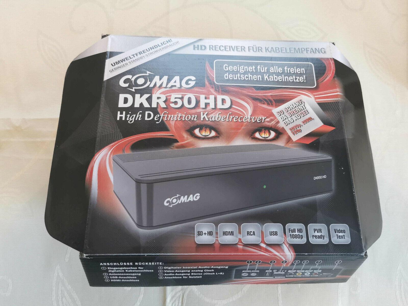 Comag DKR 50 Digital HD Kabelreceiver DVB-C USB PVR HDMI Kabel Audio Cinch, NEU/