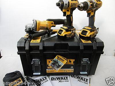 DEWALT XR DCK382M2 DCG412 GRINDER DCD795 DRILL DCF886 IMPACT 18V 4 AH + DT71580